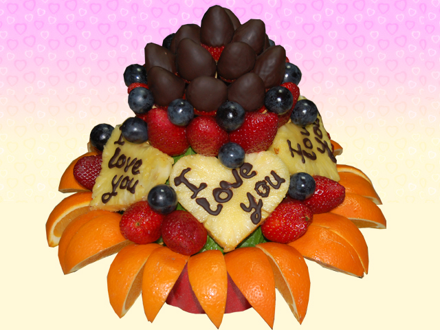 Meyve Sepeti I Love You (Çikolatalý)