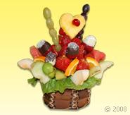 Minik Kalp Meyve Sepeti - Meyve Cicek Meyve Çiçeği Ürünün ayrıntılarını görmek için tıklayın !